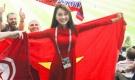 """""""Bạn gái tin đồn"""" Văn Đức U23 sang tận Nga xem World Cup"""
