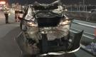 Phát hoảng với hiện trường TNGT mô tô phân khối lớn tông nát đuôi ô tô