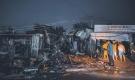 Lửa thiêu rụi 4 sạp hàng chợ huyện Tân Châu trong đêm