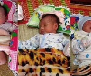 Thương tâm 3 trẻ sơ sinh bị mẹ bỏ rơi trước cổng chùa