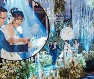 Yêu nhau từ thời lương 150 nghìn/ngày, sau 8 năm cô gái hưởng đám cưới 10 tỷ, váy cưới 30.000 viên pha lê