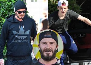 Beckham già nua khi đi tập thể dục cùng con trai cả