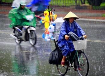 Bắc Bộ cảnh báo mưa dông vào chiều tối nay