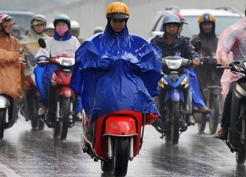 Các tỉnh Bắc Bộ có mưa dông do ảnh hưởng của áp thấp nhiệt đới