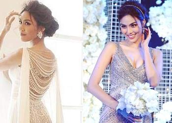 Lấy chồng đại gia, Lan Khuê lập kỷ lục cô dâu thay nhiều váy cưới nhất Vbiz