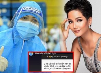 H'Hen Niê xúc động nói về màn biểu diễn gây sốt ở bệnh viện dã chiến