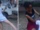 Thiếu phụ trẻ vác bụng bầu đánh ghen nữ sinh cấp hai
