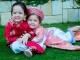 'Cục cưng' nhà sao Việt đáng yêu với áo dài, khăn xếp