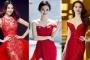 Đầu năm, sao Việt nô nức diện váy đỏ để lấy may
