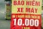 Bảo hiểm xe máy giá 10.000 đồng 'nở rộ' những ngày cận Tết
