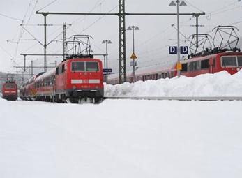 Ảnh: Tuyết phủ trắng Châu Âu