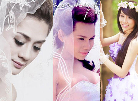 Nhà thiết kế chuyển giới Franky Nguyễn hóa cô dâu xinh đẹp.