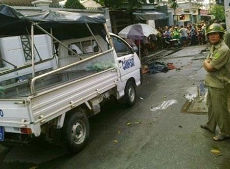 Hiện trường vụ giết người vào chiều 10/10 tại Q.Gò Vấp, TP.HCM