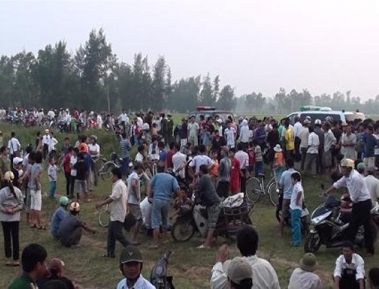 Hiện trường nơi xảy ra vụ việc chặn xe cứu thương