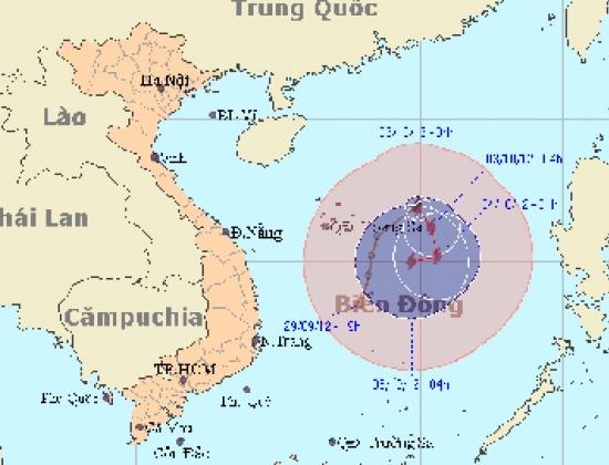 Bão số 7 đã suy yếu thành áp thấp nhiệt đới