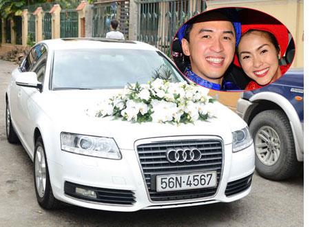 Cận cảnh chiếc xế hộp đón dâu trong đám cưới Tăng Thanh Hà - Louis Nguyễn.