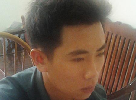 Đối tượng Nguyễn Đình Khuyến tại cơ quan công an.