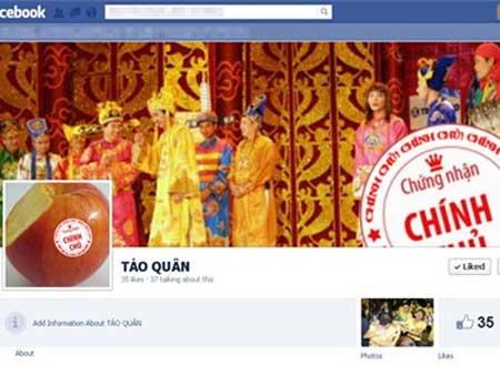 Trang trên Facebook với hình ảnh