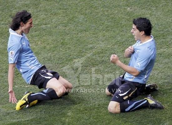 Cặp song sát Suarez - Cavani đáng sợ của Olympic Uruguay