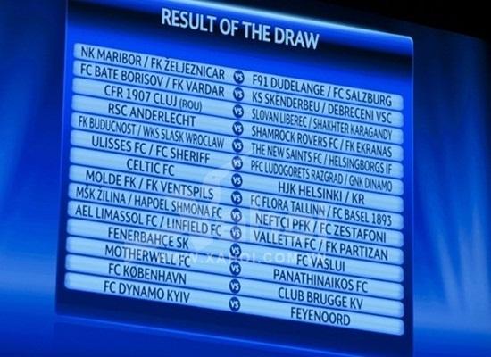 Kết quả bốc thăm vòng sơ loại thứ ba Champions League