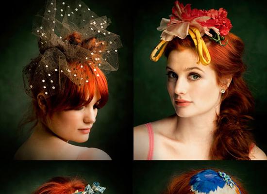 Băng đô cài tóc kiểu dáng đặc biệt dành cho những cô dâu cá tính.