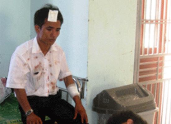 PV Trần Duy Tuyên bị chém trọng thương vào đầu