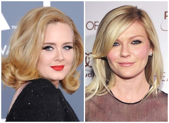 Những kiểu tóc dành cho gương mặt tròn khá được các mỹ nhân Hollywood ưa thích.