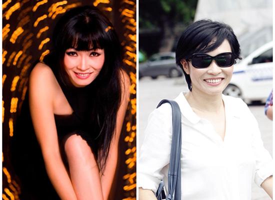 Phương Thanh dường như đã đẹp hơn lên khi từ bỏ mái tóc dài quen thuộc bấy lâu.