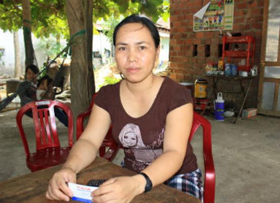 Chị Lê Thị Thanh, một nhân chứng trong vụ án