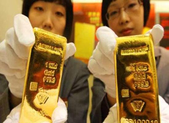 Giá vàng giảm mạnh trong phiên sáng nay