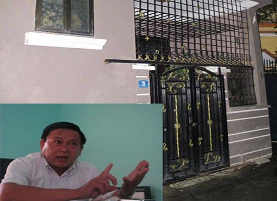 """Thượng tá Nguyễn Văn Võ đang kể về hành trình truy nã Dũng """"ben""""  (ảnh nhỏ) và căn nhà mà Dũng """"ben"""" trú ngụ cùng người tình ở Hà Nội"""