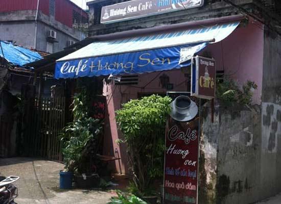 Quán cà phê nơi xảy ra vụ việc