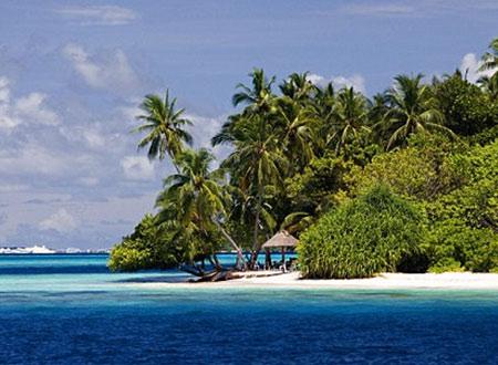 Hòn đảo Maldives xinh <a href=
