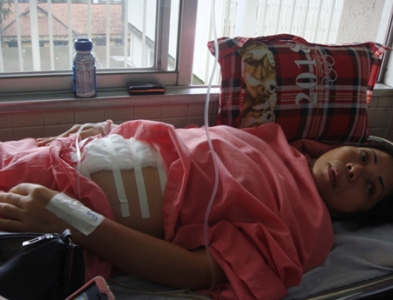 Bệnh nhân Yến được điều trị tại Bệnh viện Chợ Rẫy - (Ảnh: Nguyên Mi)