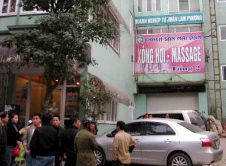 Khách sạn - nơi Chủ tịch HĐQT Tân Cương Hoàng Bình tử vong. Ảnh: Báo Lao động