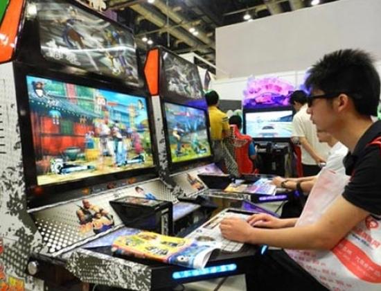 Game trực tuyến được chơi tại một cuộc triển lãm ở Trung Quốc. Ảnh: THX