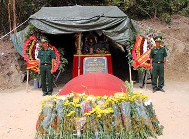 Ngôi mộ Đại tướng hiện tọa lạc ở núi Mũi Rồng (thuộc địa phận Thọ Sơn, Quảng Đông, Quảng Trạch, Quảng Bình)