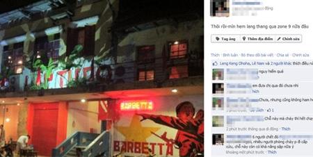 Giới trẻ hốt hoảng vì cháy bar ở khu ăn chơi Zone 9 | Cháy lớn, Quán bar, Đám cháy, Hỏa hoạn, Hà Nội, Zone 9, Hợp tác xã Zone 9