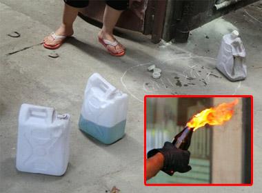 Rất may vụ đốt nhà không gây thương vong về người