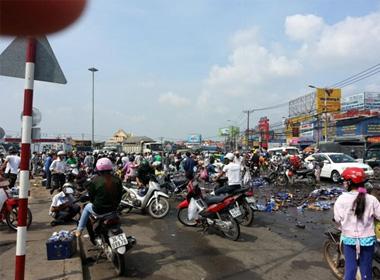 Hiện trường vụ cướp bia ở Đồng Nai