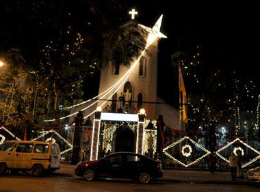 Nhà thờ Hàm Long, 21 phố Hàm Long, quận Hoàn Kiếm. Ảnh: Mytour.