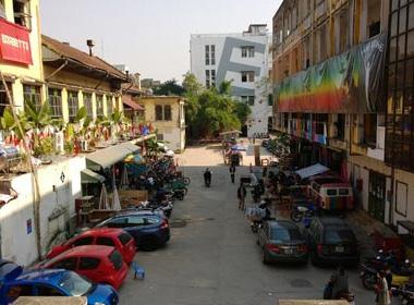 Một góc Zone 9, khu hoạt động nghệ thuật tập trung đầu tiên ở Việt Nam.
