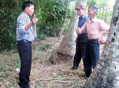 Tri ân mẹ Nguyễn Thị Thìn - người đã nuôi giấu đơn vị trong trận đánh cảm tử. Ảnh: ĐĂNG KHOA