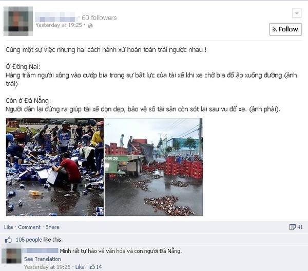 Hai cảnh tượng đối lập tại Đồng Nai và Đà Nẵng trước tai nạn đổ bia | Hôi của, Tai nạn, Đà Nẵng, Đổ bia, Đồng Nai, Tài xế