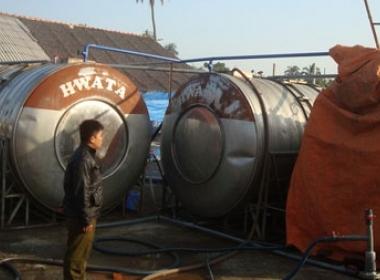 Bồn chứa dịch tôm của Công ty TNHH Việt Nam ChiTin-HG - nơi ba người chết và một người đang trong tình trạng nguy kịch