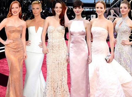 Dàn mỹ nhân bên thảm đỏ Oscar 2013.