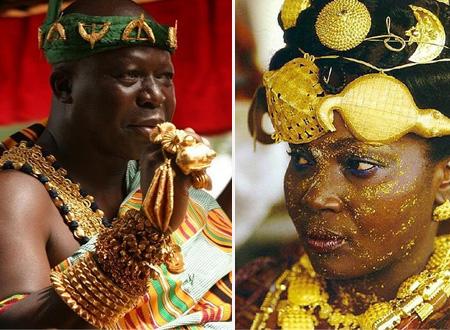 Người dân bộ tộc Ashanti dát cả tá vàng lên người nhưng lại không có cái ăn.