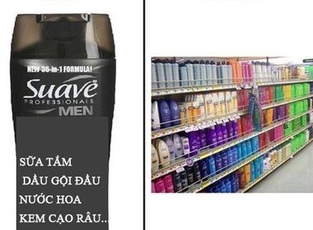 Phụ nữ thì cần cả núi mỹ phẩm còn đàn ông chỉ mơ ước có loại nước gì vừa gội, vừa tắm, vừa cạo râu... được thôi.