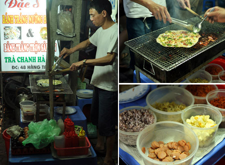 Bánh tráng nướng rất nổi tiếng ở Đà Lạt, được bán trên khắp các con phố của vùng đất mộng mơ này