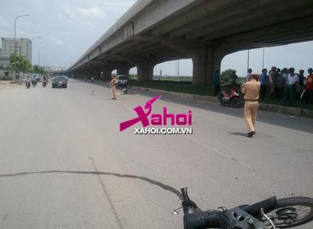Đi xe máy gây tai nạn nghiêm trọng rồi bỏ chạy | Tai nạn giao thông, Xe máy đâm xe đạp, Va chạm kinh hoàng, Nguyễn Xiển, Tai nạn, Hà Nội